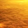 写真: 機上の夕焼け