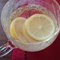 自家製レモネードを北一グラスで。。。