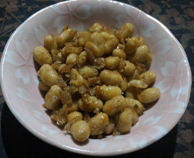 大豆の塩胡椒炒め