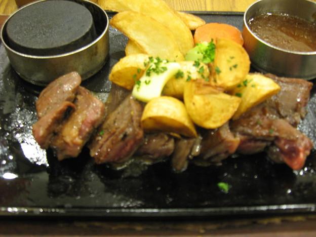写真: 大蒜ステーキ