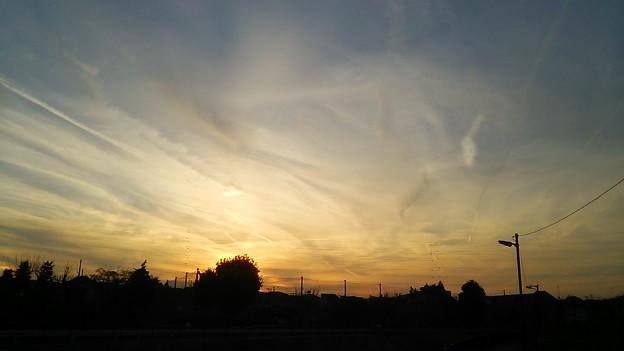 夕暮の空と雲