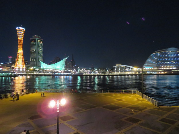 神戸ハーバーランドの夜景
