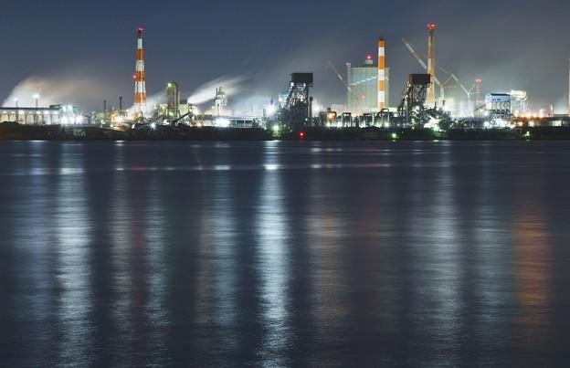 写真: 京葉工業地帯夜景
