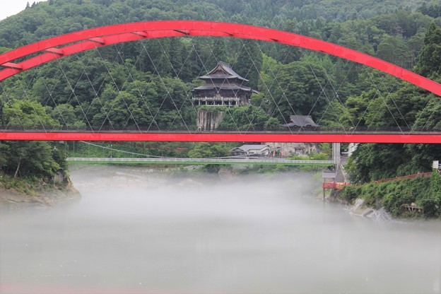 只見川 川霧