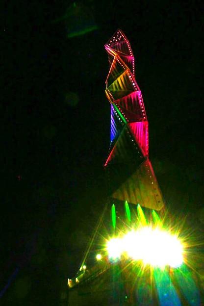 Photos: 光る くねくねタワー