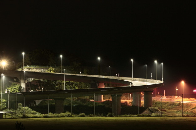 写真: 浜の宮らせん橋 日立バイパス