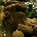 写真: 館山神社の狛犬