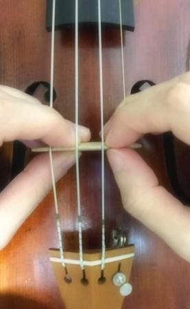 中野・江古田 バイオリン 個人レッスン ヴィオラ 吉瀬弥恵子 ワイズ音楽教室 駒の角度調整のやり方