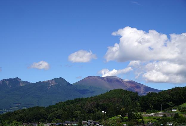 写真: 夏姿の浅間山