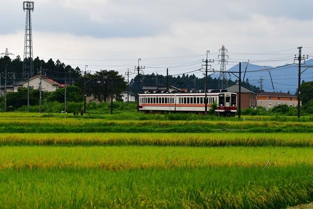 写真: 野岩鉄道は龍王峡駅方面へ