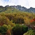 写真: 遠くに瑞牆山を