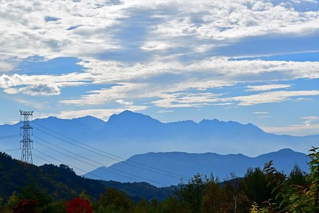 写真: 静かな稜線