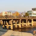 写真: 三条大橋 木製欄干