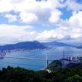 写真: 火の山から見る関門海峡