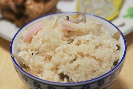 土鍋で炊き込みご飯